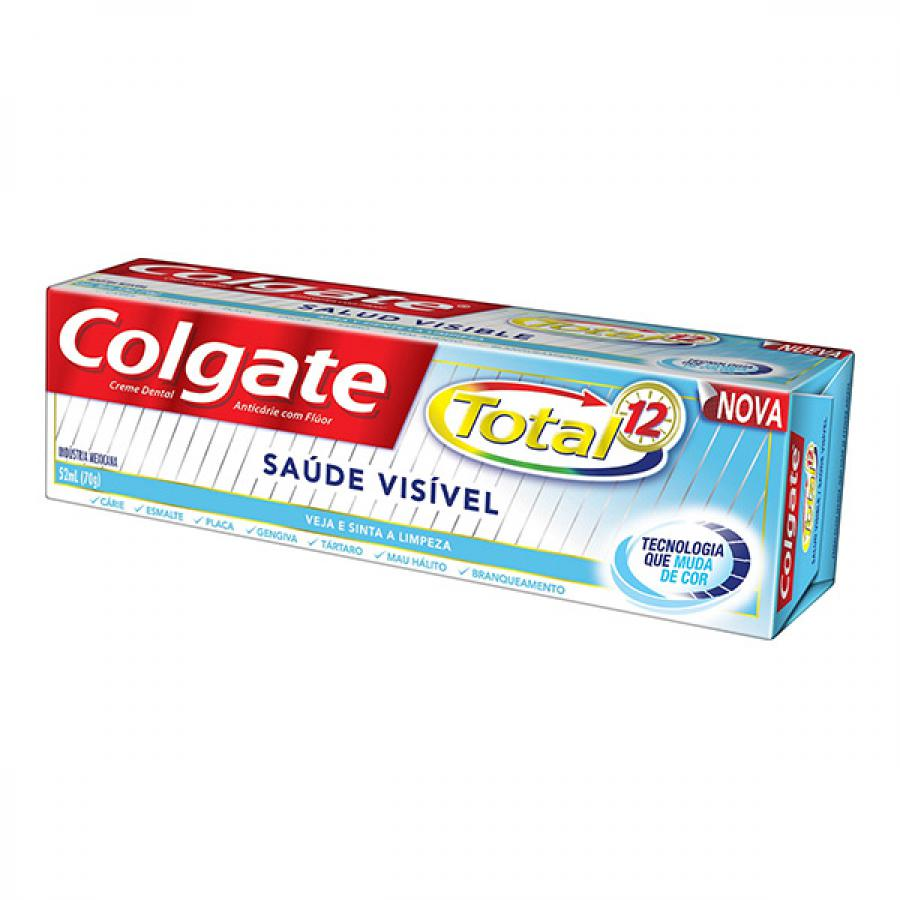 Creme Dental Colgate Total 12 Saude Visivel 70g