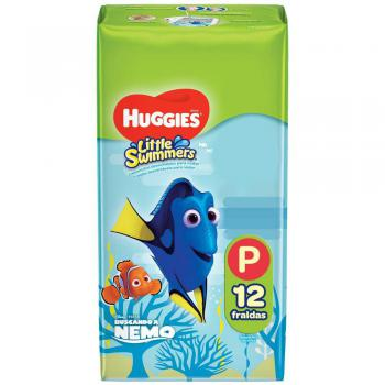 FRALDA HUGGIES LITTLE SWIMMERS P 12 UNIDADEs