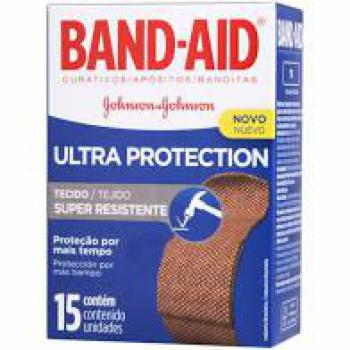 curativo band aid ultra protection c/15 unidades