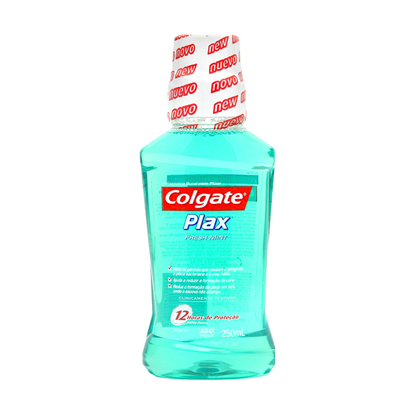 Antisseptico Bucal Colgate Plax com Fluor Fresh Mint 250ml