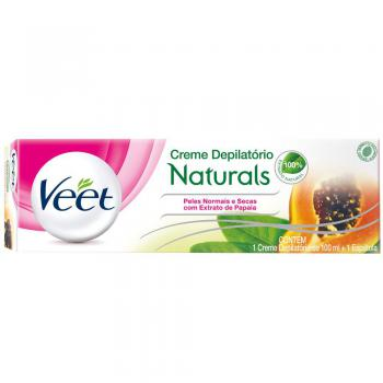 Creme Depilatorio Veet Naturals Pele Normal/Seca Papaya 100ml