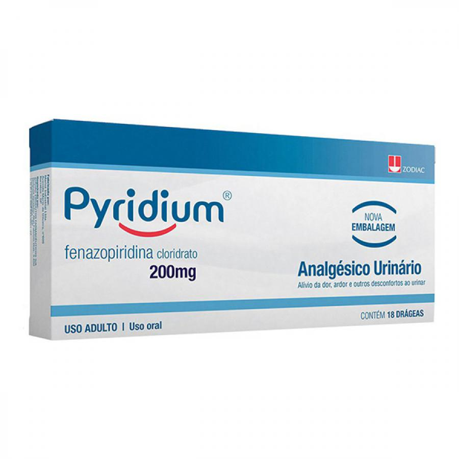 Pyridium 200mg com 18 Drageas