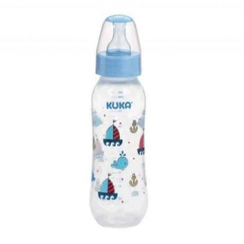 MAMADEIRA KUKA NATURAL COLOR BICO ORTODONTICO AZUL 160ML