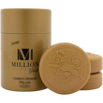 SABONETE PERFUMADO MILLION GOLD FOR MEN 3UN 100G CADA