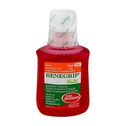 Benegrip Multi 13,30mg + 0,33mg + 0,13mg 240mL