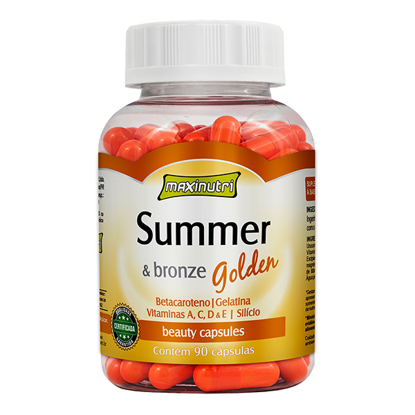 SUMMER  &  BRONZE GOLDEN COM 90 CAPSULAS